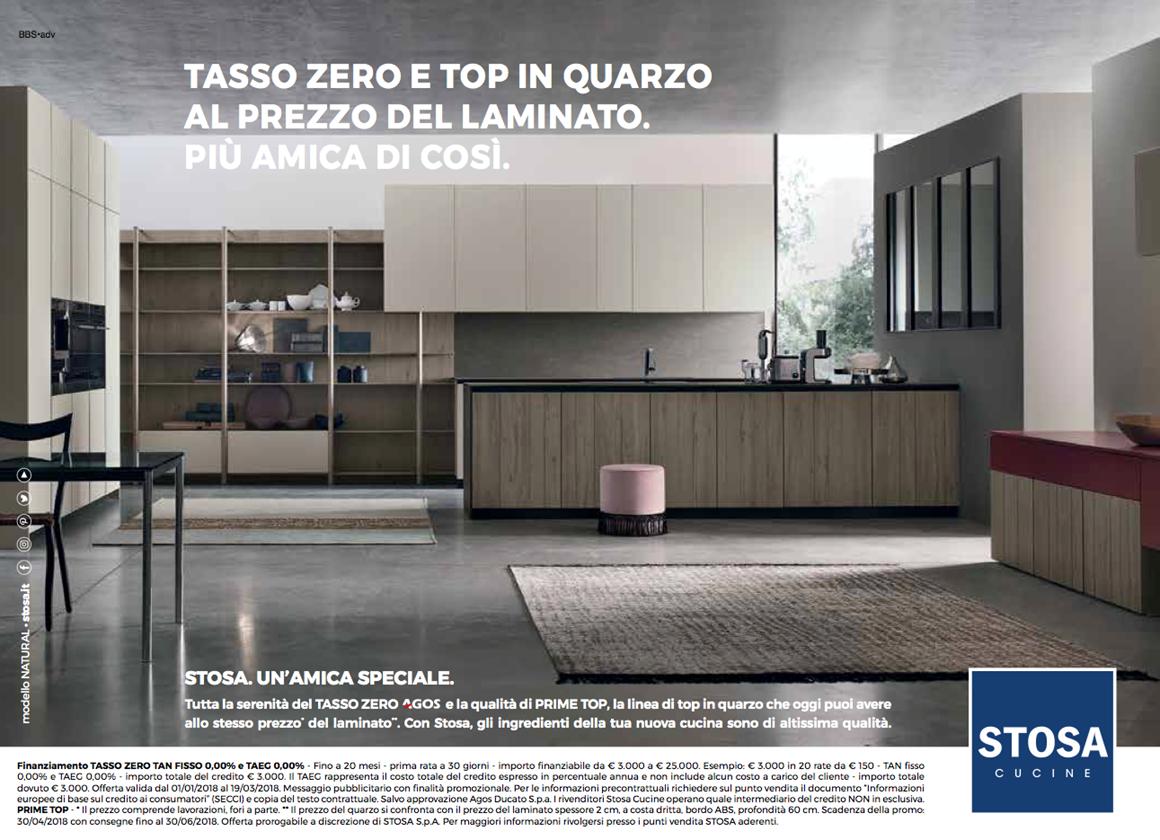 Cucine stosa a tasso zero in out srl for Arredamento tasso zero