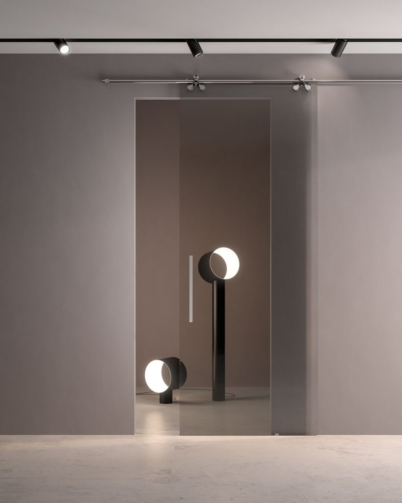 Porte Scorrevoli A Due Ante In Vetro.Arredamento Di Design Con Le Porte Scorrevoli In Vetro Per Interni