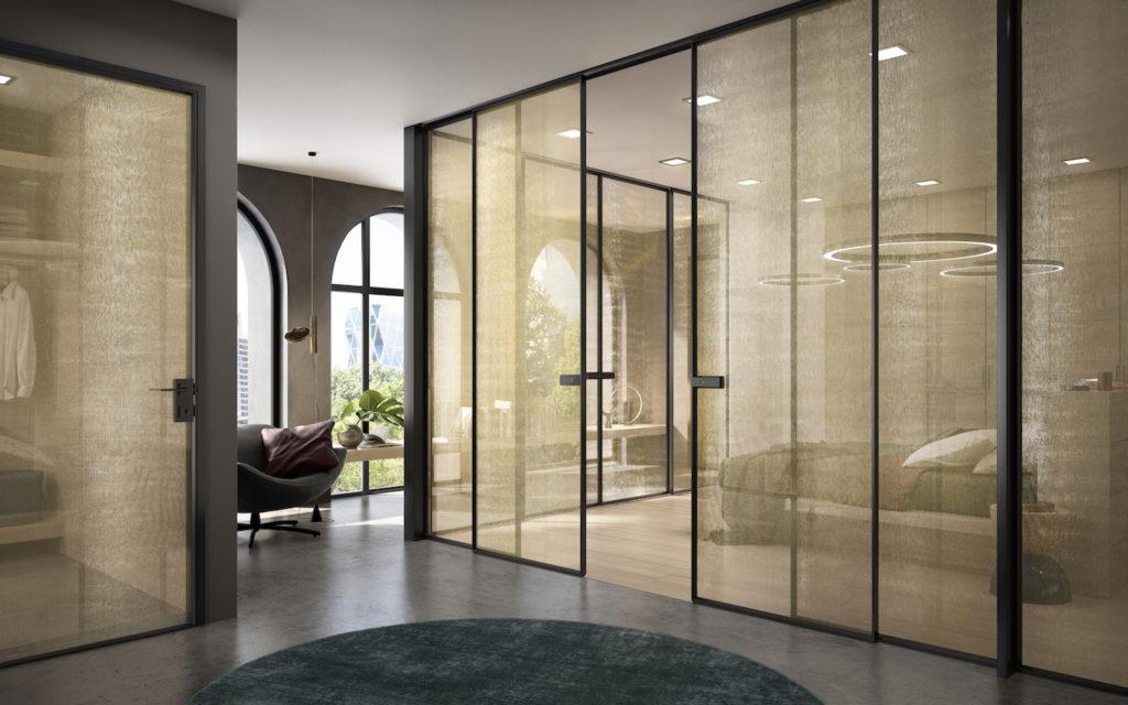 Porte A Vetro Design.Arredamento Di Design Con Le Porte Scorrevoli In Vetro Per